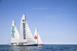Racing sailboat Volvo 60